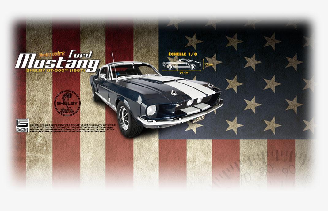 Montez votre Ford Mustang Shelby GT-500 1967 Echelle 1//8 Altaya No NUMERO 97